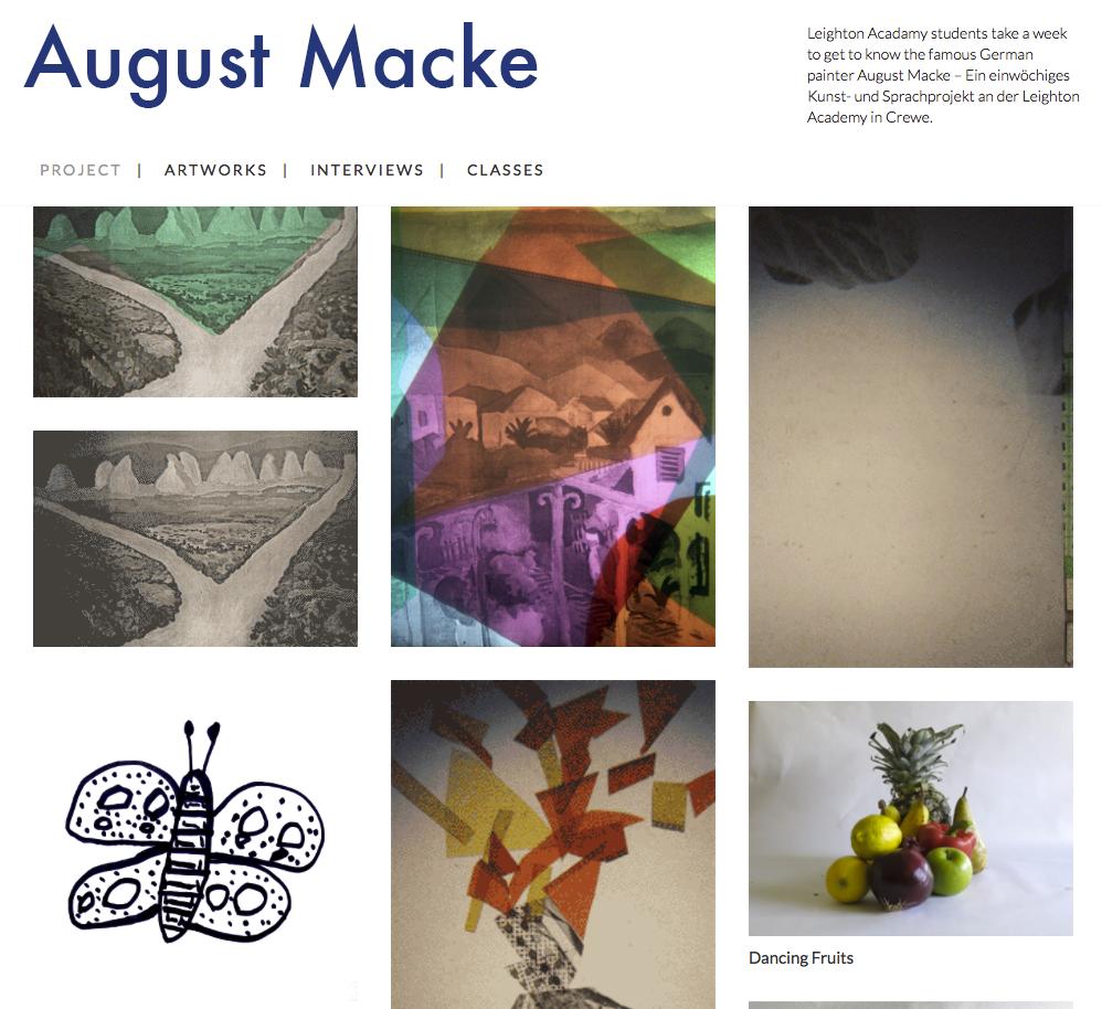 Macke Projekt Website